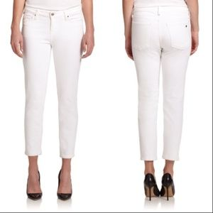 kate spade | white broome street skinny jeans